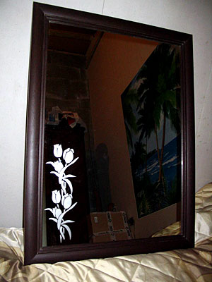 Тюльпаны на зеркале
