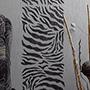 Шкура зебры - рисунок на стене