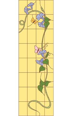 Вьюнок и бабочки