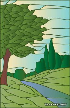 Дерево и речка