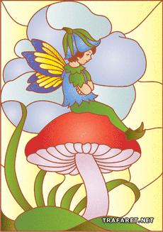 Эльф на грибе