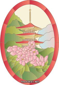 Пагода и сакура