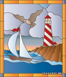 Маяк и лодка