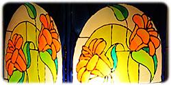 Витражные рисунки для декора стекла